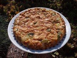 Slaný cuketový koláč -  bez mouky