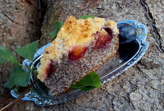 Makový koláč (makovník) se švestkami