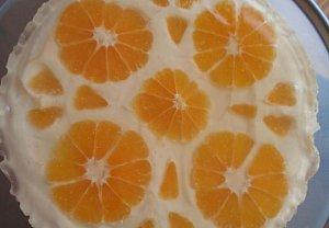 Citronový dort (řezy) s želé