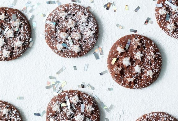 Vánoční čokoládové sušenky
