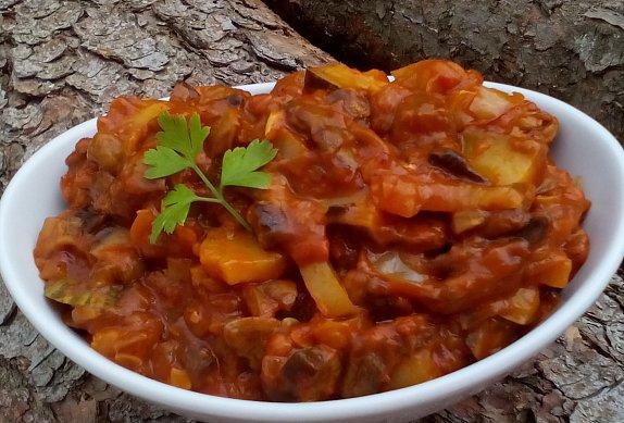 Houbová směs se zeleninou na topinky, tortilly... photo-0
