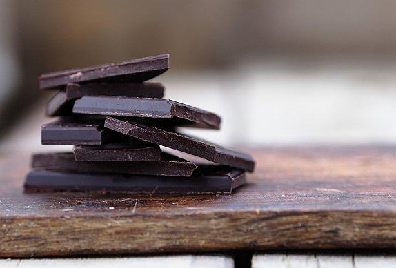 Čokoládový dortík s malinami