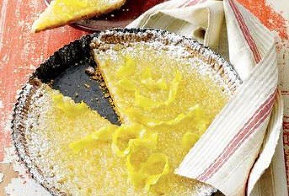 Citronový koláč z mléčné rýže