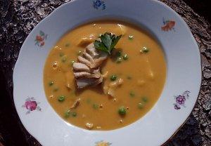 Krémová polévka s treskou