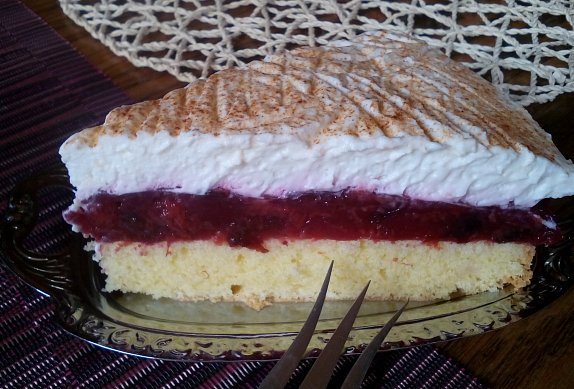 Osvěžující švestkový dort / řez