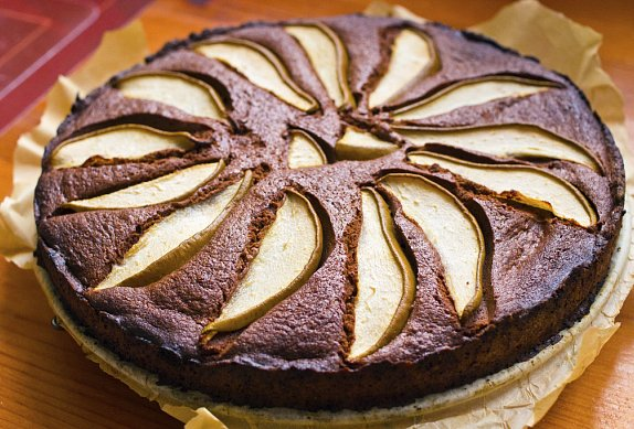 Čokoládový koláč s jablky