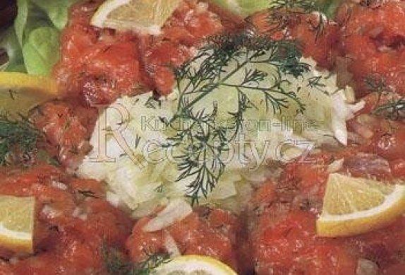 Tatarský biftek z lososa photo-0