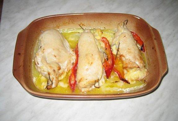 Plněná kuřecí kapsa