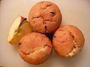 Jablečné muffiny s tvarohem