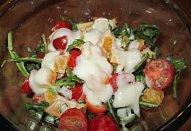 Salát Rukola s cherry rajčátky a pomerančem