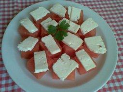 Melounové jednohubky (salát)