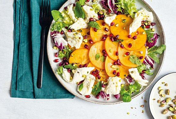 Letní salát s kaki a mozzarellou photo-0