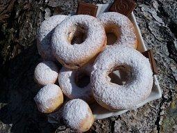 Pečené donuty s čokoládou