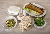 Pomazánka z uzené makrely a pečeného česneku