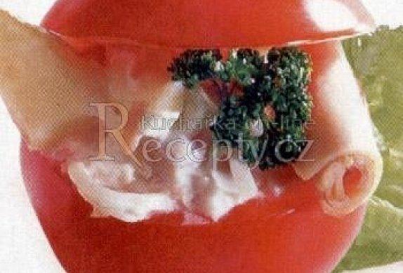 Rajčata plněná hermelínem