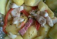 Šťavnatá ryba s voňavým bramborem