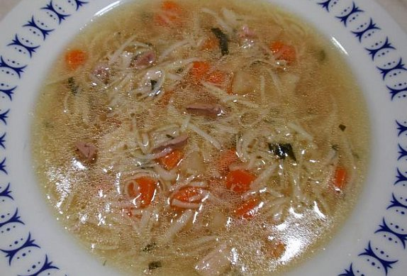 Králičí polévka - vývar