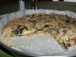 Slaný koláč s mangoldem