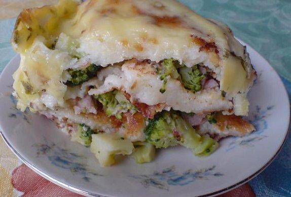 Zapékané palačinky s brokolicí