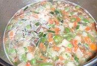 Jednoduchá vločková polévka