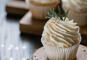 Vánoční vanilkové cupcakes