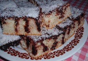 Kefírová kokosová buchta (koláč) - píchaná