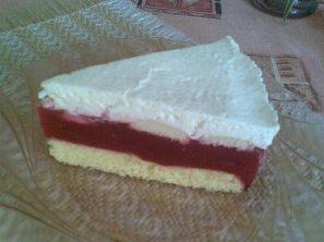 Malinový dort - bez křoupání