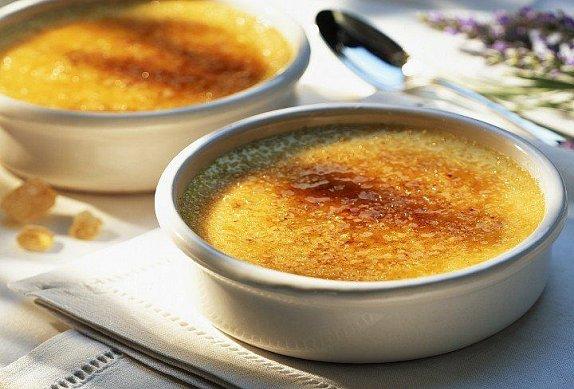 Kaštanové crème brûlée