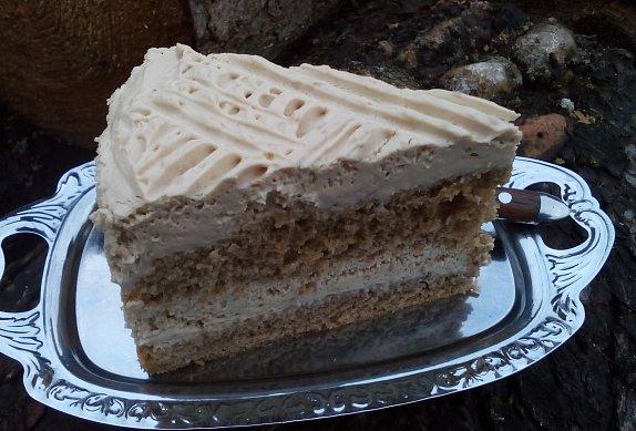 Smetanový cappuccino dort / řez