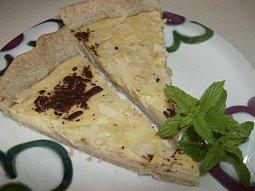 Linecký koláč s ricottou a broskvemi