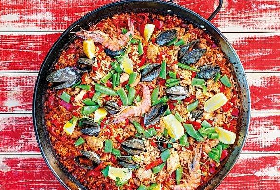 Španělská paella krok za krokem