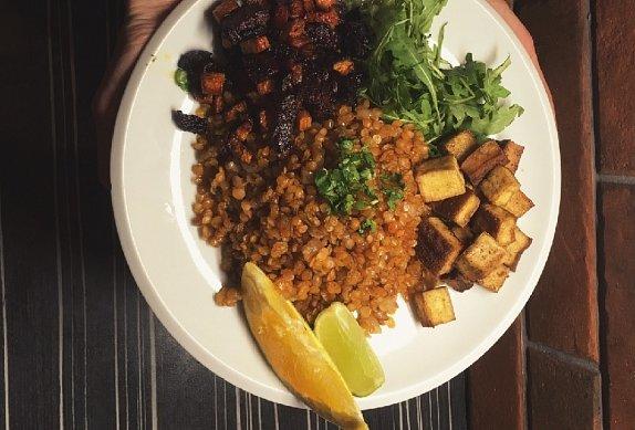 Veganský talíř