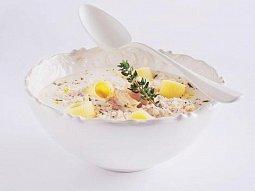 Sametová drůbeží polévka