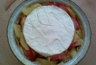 Zapečený bramborovo-ředkvičkový hermelín