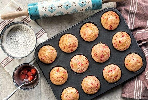 Jahodovo-banánové muffiny