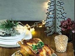 Pečené kuře s kaštanovou nádivkou