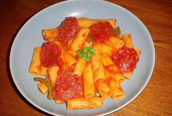 Těstoviny pepperoni
