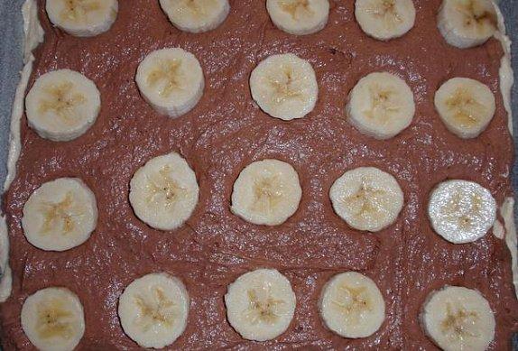 Banánové řezy s vanilkovým krémem