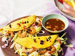 Vietnamské palačinky s krevetami
