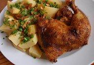 Česnekové kořeněné kuře (králík)