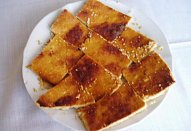 Řecký medový dort s tvarohem