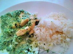 Kuřecí nudličky se špenátem a nivou