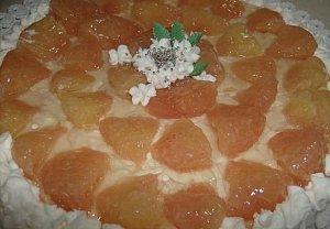 Nepečený grepový koláč