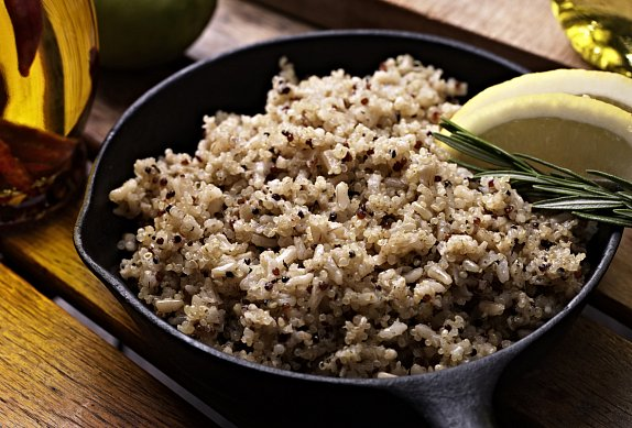 Quinoa s dýňovým pyré