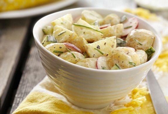 Losos a krémové citronové brambory