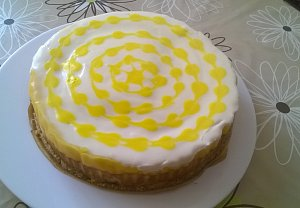 Lemon Pie Vanilla Cheesecake