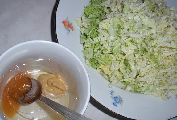 Pekingské zelí se zálivkou / salát