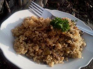 Quinoa s houbami ala houbový kuba