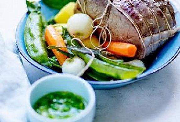 Pošírovaná pečeně se zeleninou