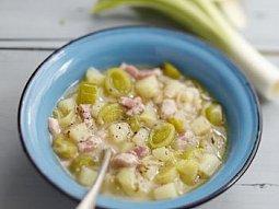 Pórková polévka se slaninou I.